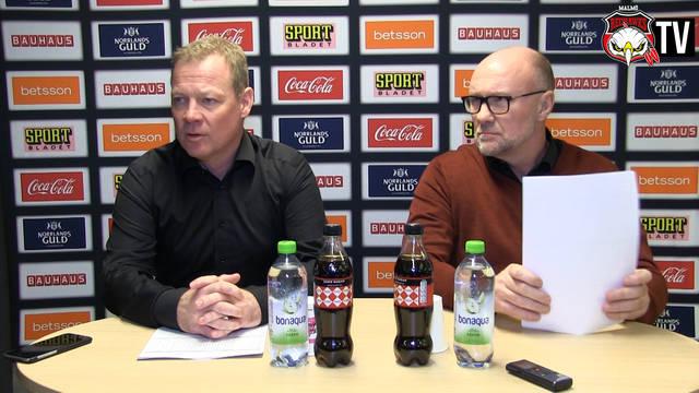 TV: Presskonferensen efter Hockeyns Dag