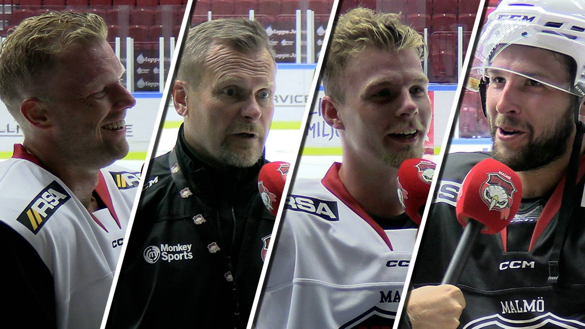 TV: Röster från Redhawks första ispass