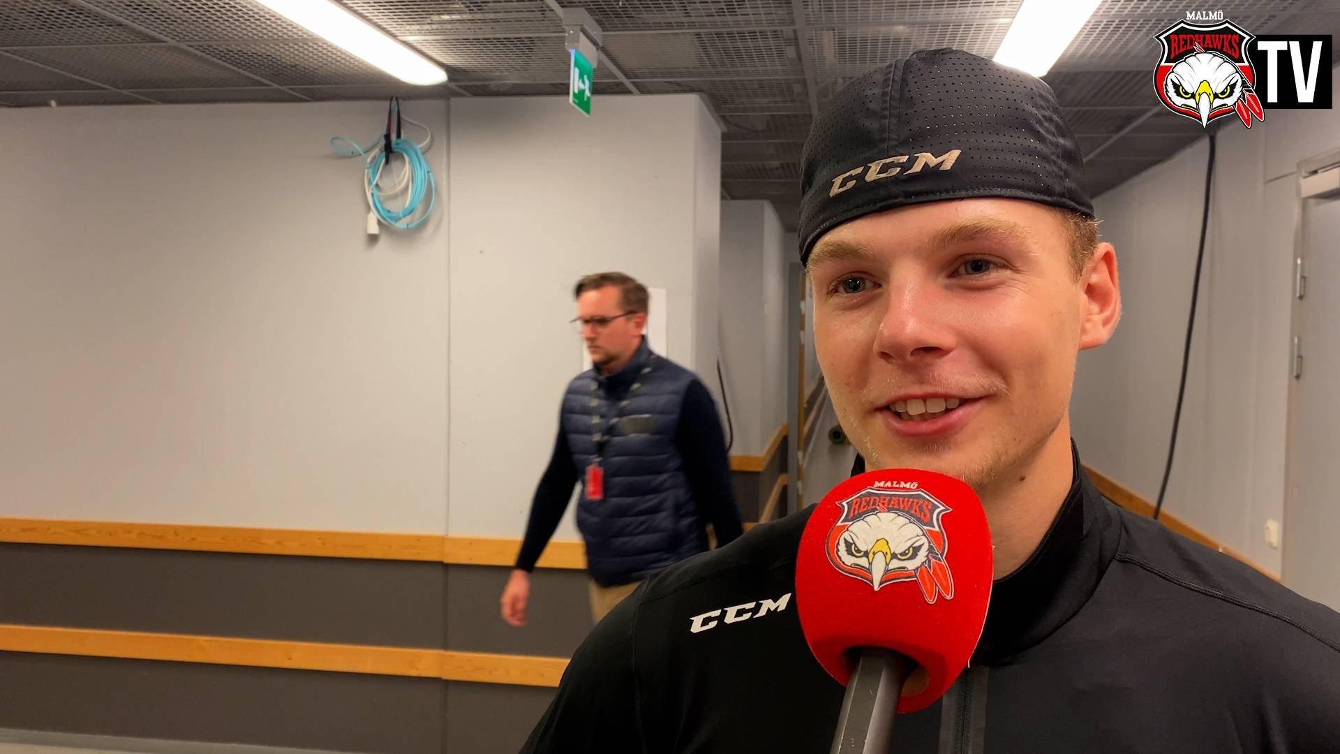 TV: Anton Olsson efter sitt första mål