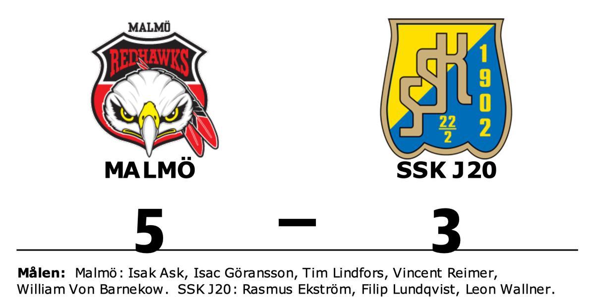 Äntligen seger för Malmö mot SSK J20