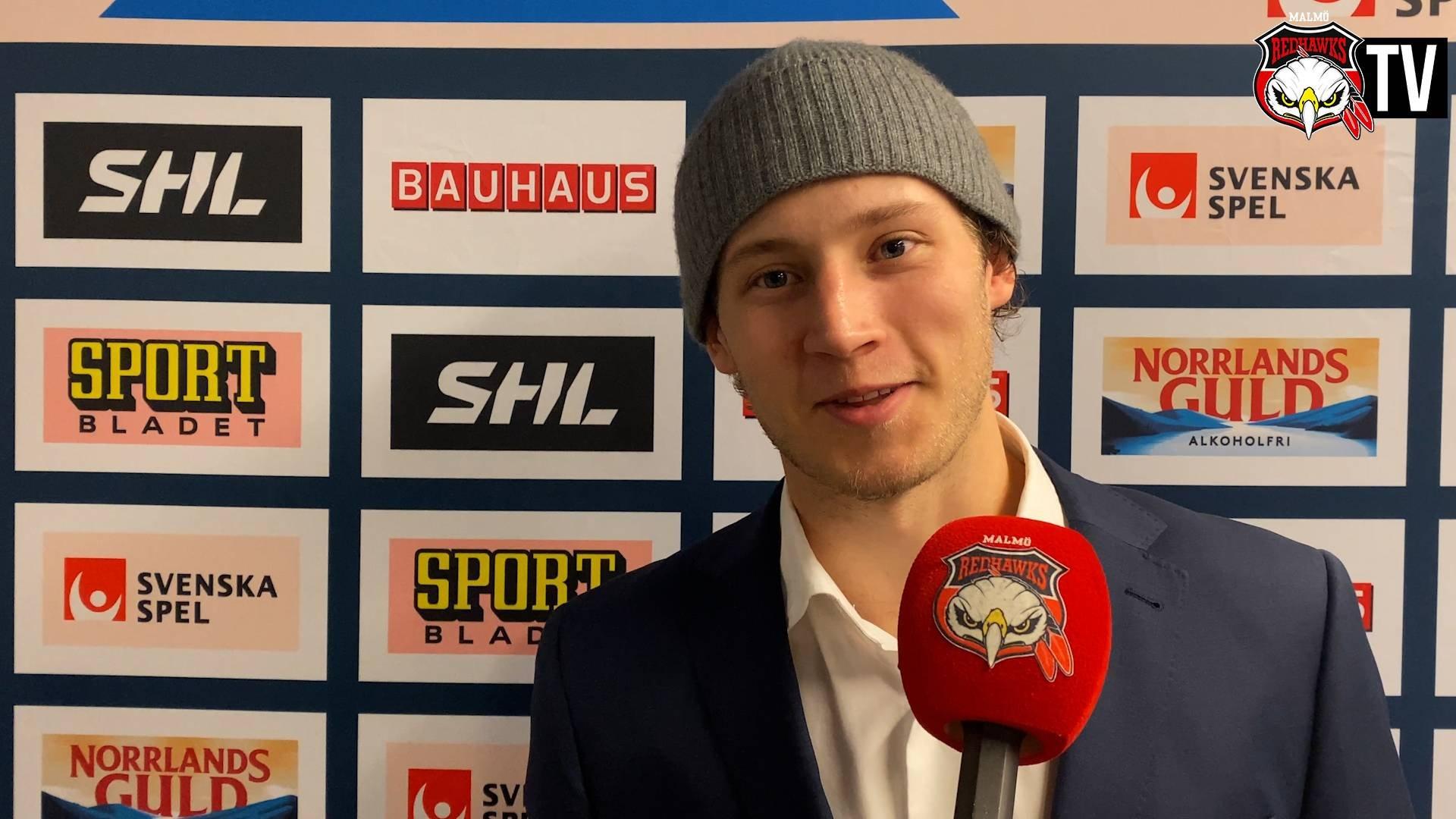 TV: Eric Engstrand om att spela SHL-hockey igen